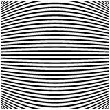 Abstract horizontal black and white striped curved background. Royalty Free Stock Photos