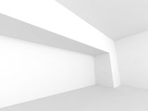 Abstract Horizontal Minimalistic Architecture Design. Empty Room. Interior Background. 3d render illustration Royalty Free Stock Photography