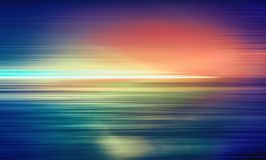 Abstract horizontal multicolour motion blur light line. Close view royalty free illustration
