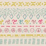 Abstract horizontal seamless pattern. Background with hand drawn shapes. Stock Image