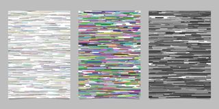 Abstract horizontal stripe background page template sets Royalty Free Stock Image