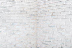 Abstract horizontal white background. The corner of the brick wall. Royalty Free Stock Photography