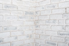 Abstract horizontal white background. The corner of the brick wall. Stock Photography