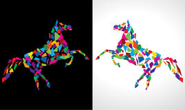Abstract Horse. Abstract Colorful Horse Vector Drawing Royalty Free Stock Photo