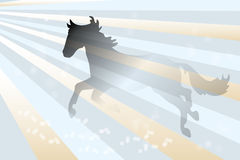 Abstract horse background Stock Images