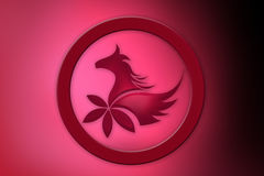 Abstract horse icon Royalty Free Stock Photography