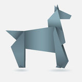 Abstract horse, paper origami Stock Images