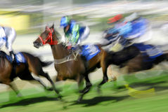 Abstract horse racing in Mauritius Stock Images