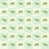 Abstract horse silhouette seamless pattern Stock Photo
