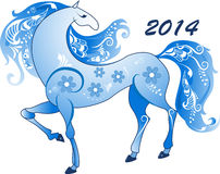 Abstract horse, the symbol of 2014 Stock Image