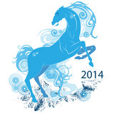Abstract horse, the symbol of 2014- Royalty Free Stock Image