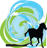 Abstract horses silhouettes. royalty free illustration