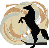 Abstract horses silhouettes. Beautiful wild horse illustration with abstract background Royalty Free Stock Photography