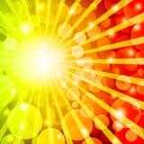 Abstract hot bokeh background. Stock Photos