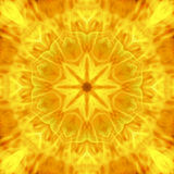 Abstract hot flower mandala of flame blaze Stock Image