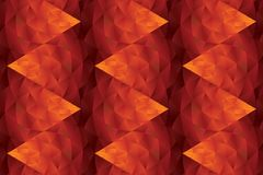 Abstract hot red geometric seamless pattern. Polygon dragon inspired repeat motif for background, wrapping paper, fabric, surface design vector illustration