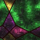 Abstract- hot stained glass. Wall art- nature. Stained glass- abstract pattern. Art decor- metal grille Stock Photos