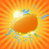 Abstract hot summer background Royalty Free Stock Photos