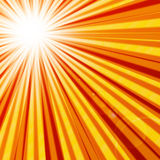 Abstract hot summer sun. With rays Royalty Free Stock Photos