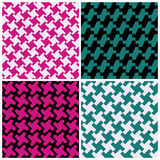 Abstract Houndstooth Patterns Royalty Free Stock Photography