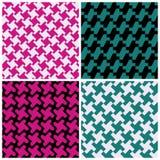 abstract houndstooth patterns Στοκ φωτογραφία με δικαίωμα ελεύθερης χρήσης