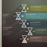 Abstract hourglass banner infographics Stock Photos