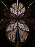 Abstract hourglass, flower or butterfly. Digital artwork for creative graphic design Royalty Free Stock Images