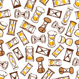 Abstract hourglasses seamless pattern background Stock Photo