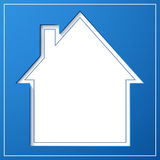 Abstract house background. Blueprint concept Royalty Free Stock Images