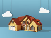 Abstract house with cloud Royalty Free Stock Photo