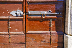 Abstract  house  door     in italy  lombardy           closed  n Stock Photo