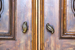 abstract  house  door     in italy  lombardy    nail Royalty Free Stock Photo