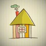 Abstract House Illustration. House Illustration on Cardboard Background Stock Photography