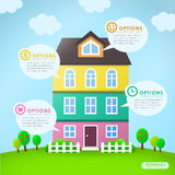 Abstract house infographics design Stock Photos