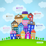 Abstract house infographics design Royalty Free Stock Photo