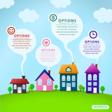 Abstract house infographics design Stock Image
