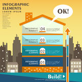 Abstract house infographics. Flat design vector abstract house infographic elements Royalty Free Illustration