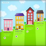 Abstract house infographics Royalty Free Stock Images