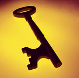 Abstract of a house key. Door key - Close up Royalty Free Illustration