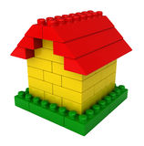 Abstract house from plastic building blocks Royalty Free Stock Images