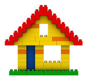 Abstract house from plastic building blocks Royalty Free Stock Photos