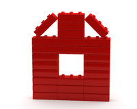 Abstract house from plastic cubes Stock Images
