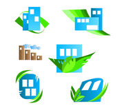 Abstract house & Real estate logo elements Stock Image