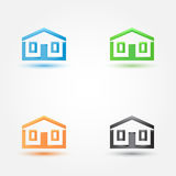 Abstract house real estate symbol. Vector building (house) silhouette icon Royalty Free Stock Images
