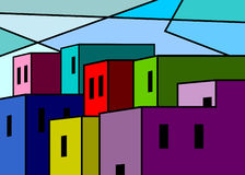 Abstract houses. Stock Images