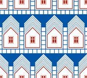 Abstract houses and cottages continuous background, real estate Royalty Free Stock Photography