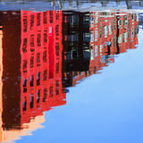 Abstract houses water reflection Stock Photography