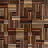 Abstract houten het met panelen bekleden patroon - naadloze achtergrond - Ebbehout stock illustratie