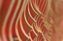 Abstract houten omheiningsdetail met diepte van gebied Stock Afbeelding