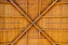 Abstract Houten Patroon op Hoog Plafond Royalty-vrije Stock Foto's